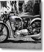 Tiger T100 Vintage Motorcycle Metal Print