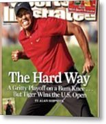 Tiger Woods, 2008 Us Open Sports Illustrated Cover Metal Print