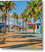 Times Square In Fort Myers Beach Florida Metal Print