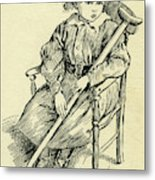 Tiny Tim From A Christmas Carol By Charles Dickens Metal Print