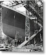 Titanic In Belfast Dry Dock 1911 Metal Print