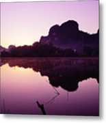 Title  The Peaceful Mountain Metal Print