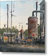 Toenail Compressor Station Metal Print