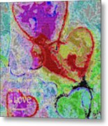 Hearts Knit Together In Love Metal Print