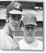 Tom Seaver And Jim Palmer At Baseball Metal Print