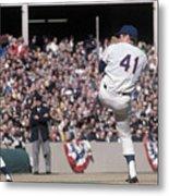 Tom Seaver Pitching During Baseball Game Metal Print