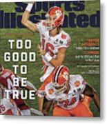 Too Good To Be True Trevor Lawrence Killed It As A Sports Illustrated Cover Metal Print