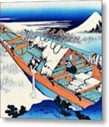 Top Quality Art - Mt,fuji36view-joshu Ushibori Metal Print