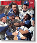 Toronto Blue Jays Joe Carter, 1992 World Series Sports Illustrated Cover Metal Print