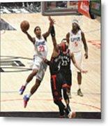 Toronto Raptors V Los Angeles Clippers Metal Print