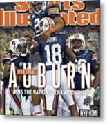 Tostitos Bcs National Championship Game - Oregon V Auburn Sports Illustrated Cover Metal Print
