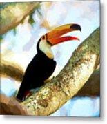 Toucan On A Tree Metal Print