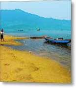 Tourists In Lang Co 2 - Hue, Vietnam Metal Print