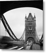 Tower Bridge In London In United Metal Print