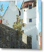 towerhouse and turret at Culross Metal Print