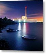 Toxic Beach With Power Plant Metal Print