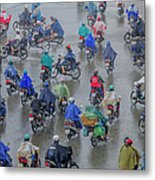 Traffic In Ho Chi Minh City Metal Print