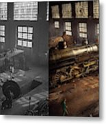 Train - Repair - Third Door On The Right 1942 - Side By Side Metal Print