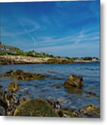 Tranquil Blues Day Kennebunkport Metal Print