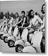 Transport. Scooters. Pic Circa 1955. A Metal Print