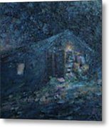 Trapp Family Lodge Cabin Sunrise Stowe Vermont Metal Print