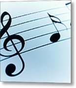 Treble Clef And Notes Metal Print