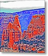 Trees Plateau Valley Color 2871ado National Monument  Metal Print