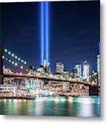 Tribute In Light From Brooklyn 1 Metal Print