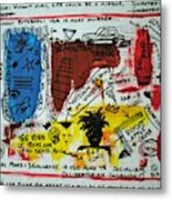 Tribute To Basquiat, Philosophy, And Activism Metal Print