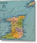 Trinidad & Tobago Map Metal Print