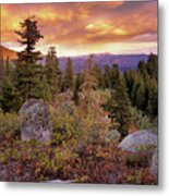 Trinity Mountains Metal Print