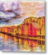 Trondheim - Waterfront Evening Metal Print