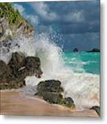 Tropical Beach Splash Metal Print