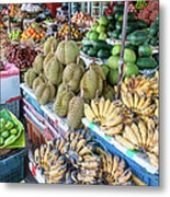 Tropical Fruit At A Street Market In Metal Print