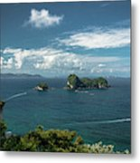 Tropical Island In The Ocean Metal Print