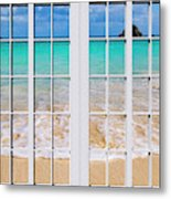 Tropical Paradise Beach Day Windows Metal Print