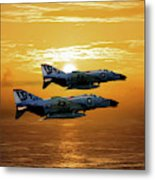 Trouble On The Horizon Metal Print