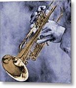 Trumpet Player Metal Print
