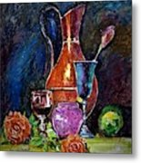 Tulip In Still Life Metal Print
