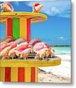 Turks And Caicos Conchs On A Spool Metal Print