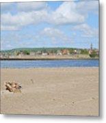 Tweed Estuary To Berwick-upon-tweed Medieval City Walls, Bridges Metal Print