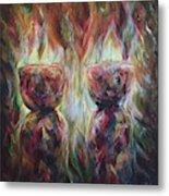 Twin Latte Stones Metal Print