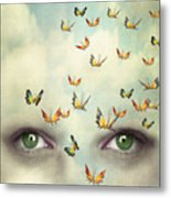 Two Eyes With The Sky And So Many Metal Print