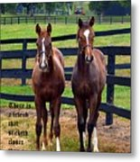 Two Friends With Proverbs 18 Vs 24 Metal Print