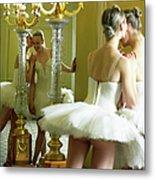 Two Teenage Ballet Dancers 13-15 In Metal Print