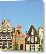 Typical Canal Houses, Amsterdam, The Metal Print
