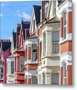 Typical English Terraced Houses In West Metal Print