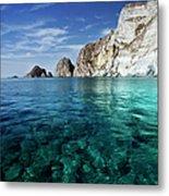 Typical Mediterranean Sea In Italy Metal Print