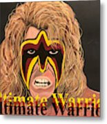 Ultimate Warrior Writing Version Metal Print