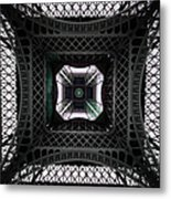 Underneath Of Eiffel Tower, Low Angle Metal Print